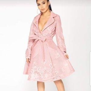 Fashion nova tallar jacket pink